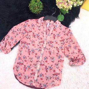 3/$25 🎉 EUC Xhilaration Floral Print Lace Blouse